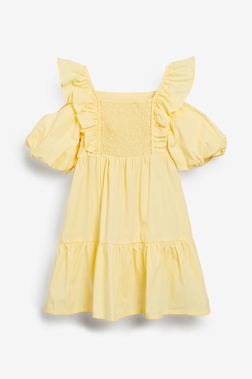 Next Tiered Puff Sleeve Dress (3-16yrs)