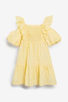 Next Tiered Puff Sleeve Dress (3-16yrs) - 290457