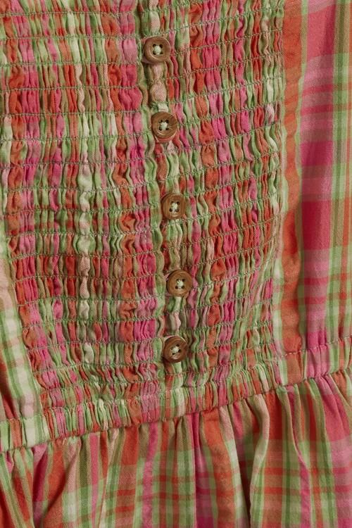 Next Shirred Check Dress (3-16yrs)