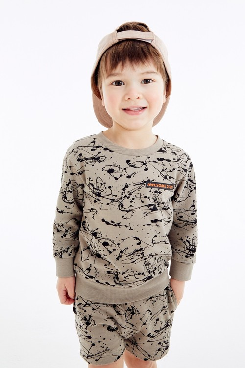 Next All Over Print Crew And Shorts Set (3mths-7yrs)