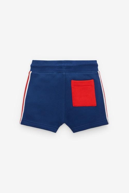 Next Jersey Colourblock Crew And Shorts Set (3mths-7yrs)