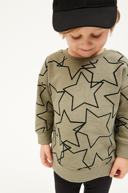 Next Jersey Oversized Crew And Leggings Set (3mths-7yrs)