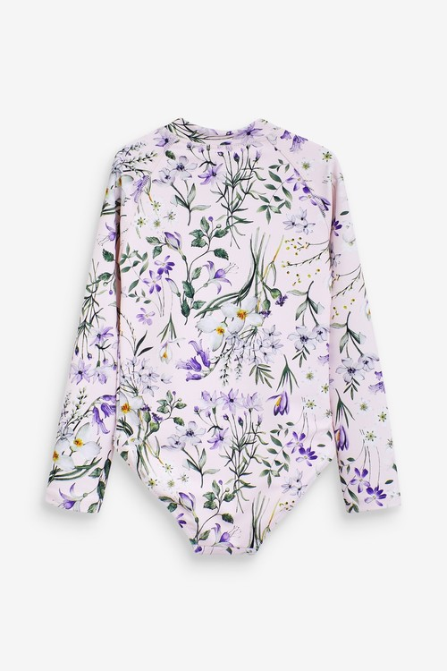 Next Floral Long Sleeve Swimsuit (3mths-12yrs)
