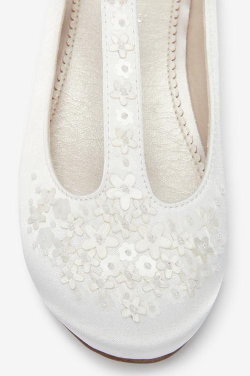 Next Floral Embellished Occasion T-Bar Shoes (Older)