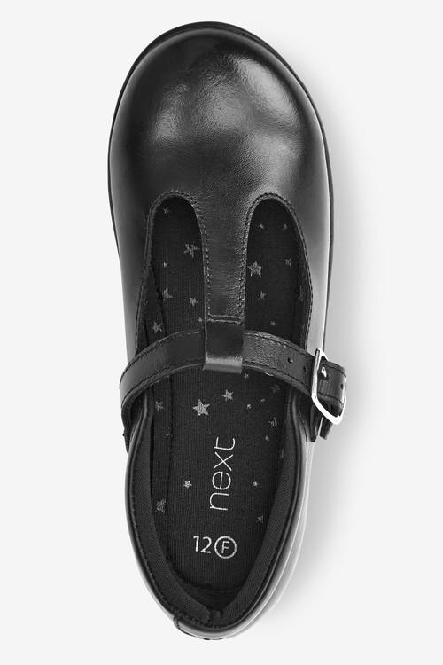 Next Junior Leather T-Bar Shoes (Older)