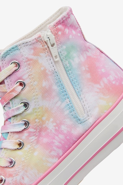 Next Tie Dye Chunky High Top Trainers (Older)