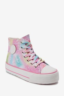 Next Tie Dye Chunky High Top Trainers (Older) - 290725