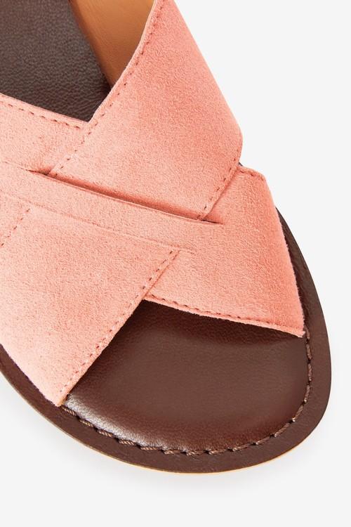 Next Leather Cross Strap Sandals (Older)