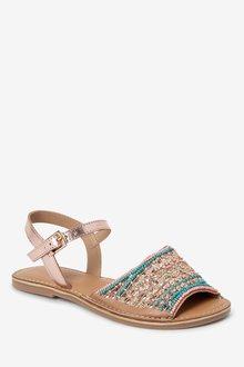 Next Embellished Peep Toe Sandals (Older) - 290740