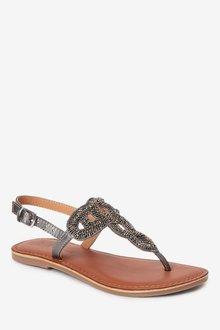Next Beaded Toe Thong Sandals (Older) - 290741