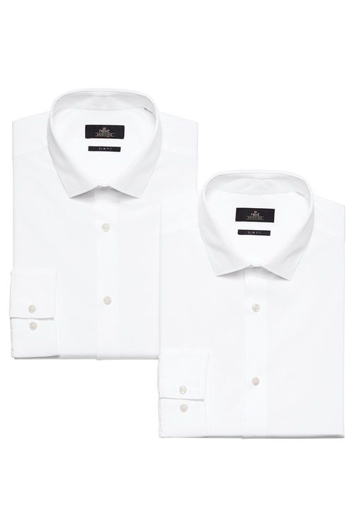 Next Shirts Two Pack-Regular Fit Double Cuff