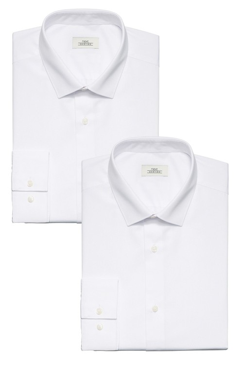 Next Shirts Two Pack-Slim Fit Double Cuff