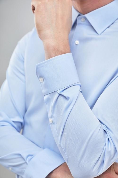 Next Signature Textured Shirt-Slim Fit Single Cuff