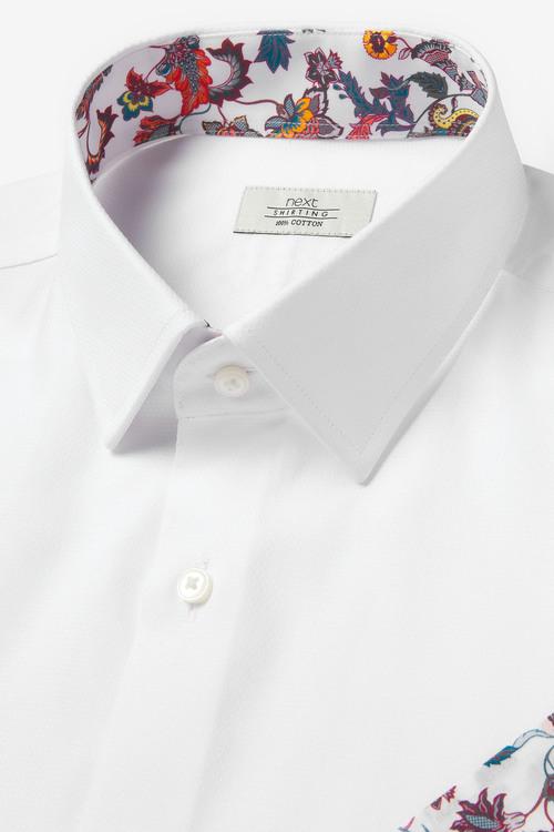 Next Shirt And Floral Pocket Square Set