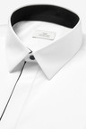 Next Slim Fit Concealed Placket With Piping Detail Shirt