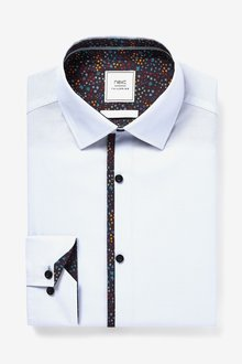 Next Shirt With Trim Detail-Regular Fit Single Cuff - 290778