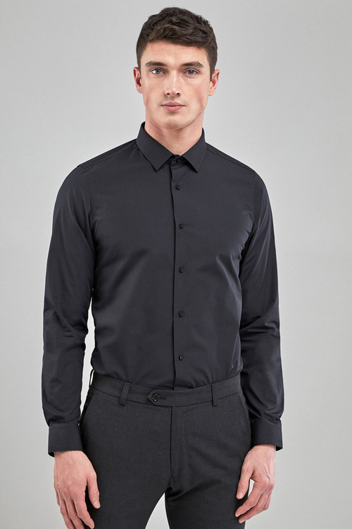 Next Easy Care Shirt-Skinny Fit Single Cuff
