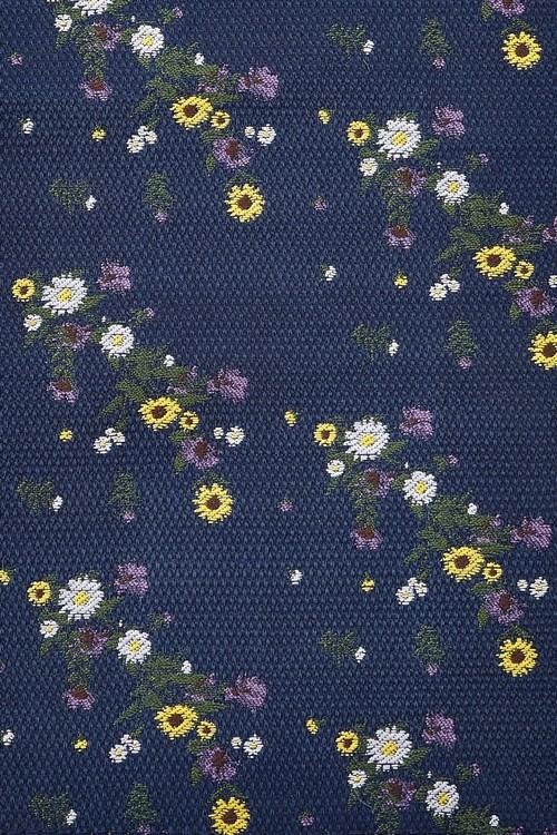 Next Tie With Floral Pocket Square Set