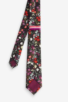 Next Floral Tie And Pocket Square Set - 290832