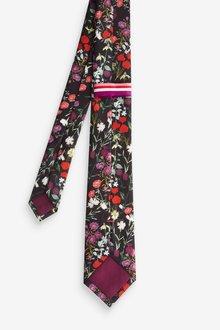 Next Floral Tie And Pocket Square Set - 290832