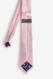 Next Tie With Floral Pocket Square and Tie Clip Set - 290843