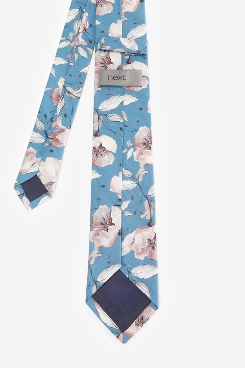 Next Floral Tie Pocket Square And Lapel Pin Set