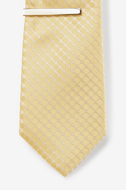 Next Geometric Tie With Tie Clip