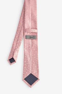 Next Floral Tie And Tie Clip Set - 290851