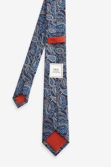 Next Paisley Pattern Tie With Tie Clip Set - 290854