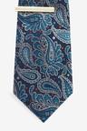 Next Paisley Pattern Tie With Tie Clip Set