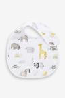 Next 3 Pack GOTS Organic Safari Regular Bib