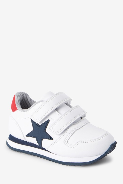 Next Double Strap Touch Fastening Trainers (Younger)