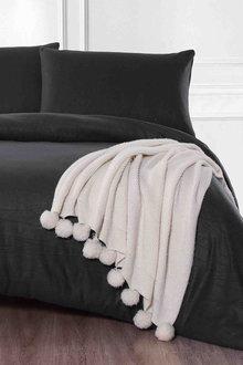 Shangri-La Linen Cashmere Touch Flannelette Quilt Cover Set - 291059