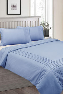 Shangri-La Linen Classic Pintuck Quilt Cover Set - 291060