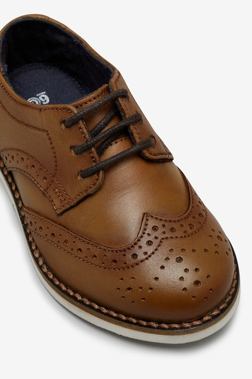 Next Leather Brogues (Younger)-Wide Fit