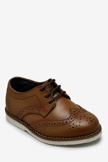 Next Leather Brogues (Younger)-Wide Fit - 291101