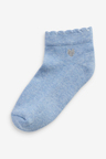 Next 7 Pack Embroidered Cushioned Sole Trainer Socks