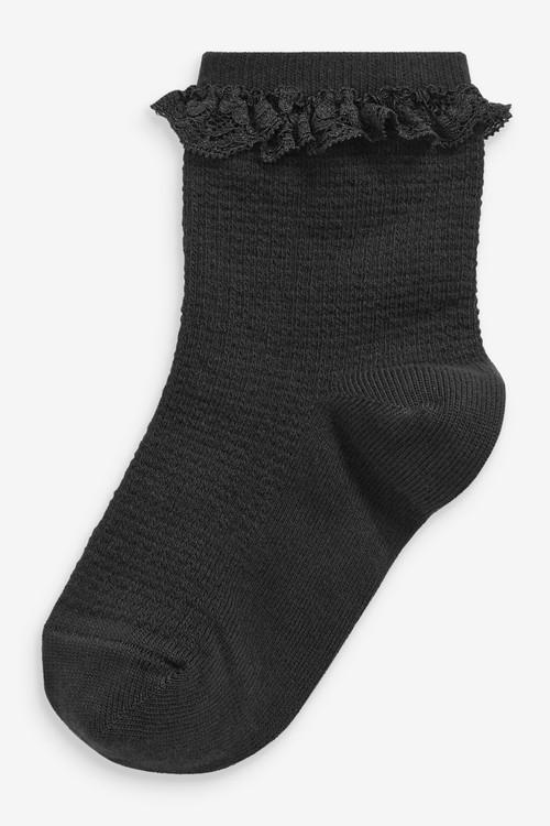 Next 2 Pack Ruffle Ankle Socks