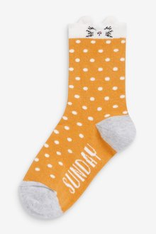 Next 7 Pack Days Of The Week Character Socks - 291159