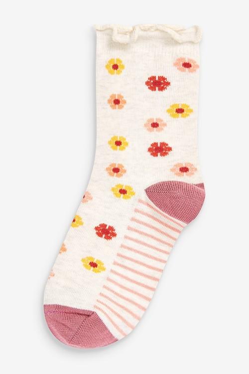 Next 5 Pack Floral Ankle Socks
