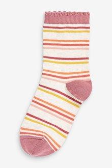 Next 5 Pack Floral Ankle Socks - 291177