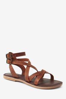 Next Leather Gladiator Sandals (Older) - 291195