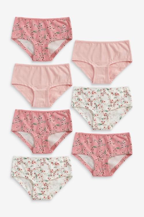 Next 7 Pack Floral Briefs (2-16yrs)