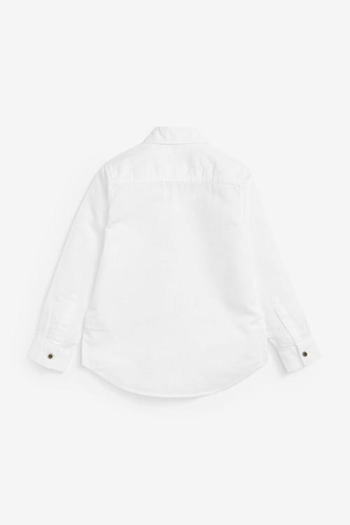 Next Long Sleeve Linen Blend Shirt (3-16yrs)