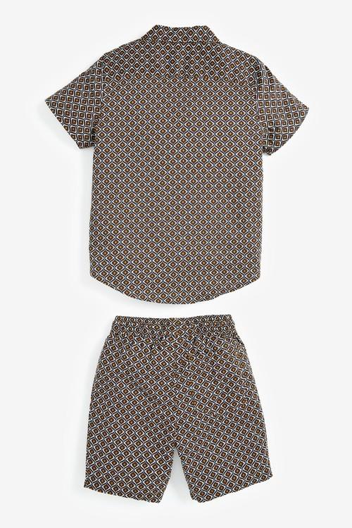 Next All Over Print Woven (3-16yrs)-Shirt & Short Set