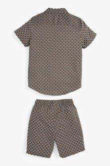 Next All Over Print Woven (3-16yrs)-Shirt & Short Set - 291369