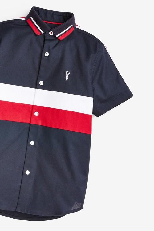 Next Short Sleeve Colourblock Shirt (3-16yrs)