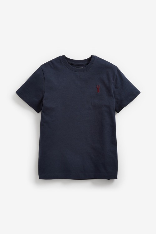 Next 4 Pack Stag Embroidery T-Shirts (3-16yrs)
