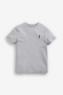 Next 4 Pack Stag Embroidery T-Shirts (3-16yrs) - 291379