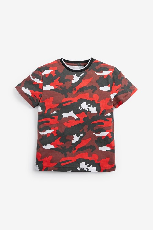 Next 3 Pack Camouflage Football Short Sleeve Jersey T-Shirts (3-16yrs)